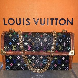 Louis Vuitton Black Multicolor crossbody wallet